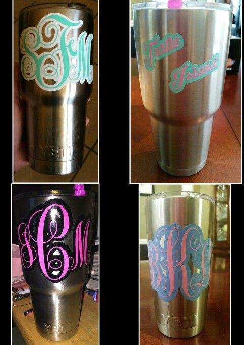 Monogram Yeti Cups Vinyl Creations Pinterest Yeti Cup - Vinyl for cup