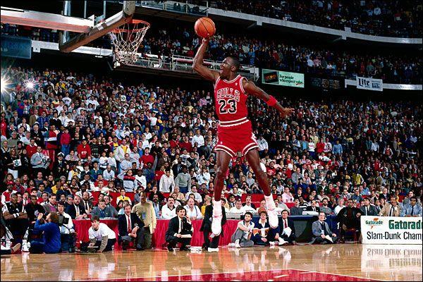 Intro Of The Jumpman Logo The Iconic Silhouette Of Mj To Commemorate His Slam Dunk Contest Triump Nba Slam Dunk Contest Michael Jordan Quotes Michael Jordan