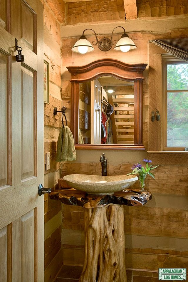 Galleries Log Homes Rustic Style Appalachian Log Timber Homes Cabin Bathrooms Log Cabin Bathrooms Rustic Toilets