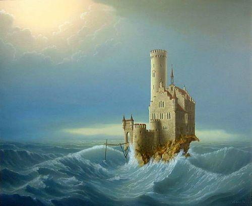 Landschaftsmalerei surrealismus  Artodyssey: Joachim Lehrer | Sanat 35 (Art 35) | Pinterest ...