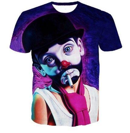 Moderní tričko s 3D potiskem klaun – trička + POŠTOVNÉ ZDARMA Na tento  produkt se vztahuje nejen zajímavá sleva a3ec26a051