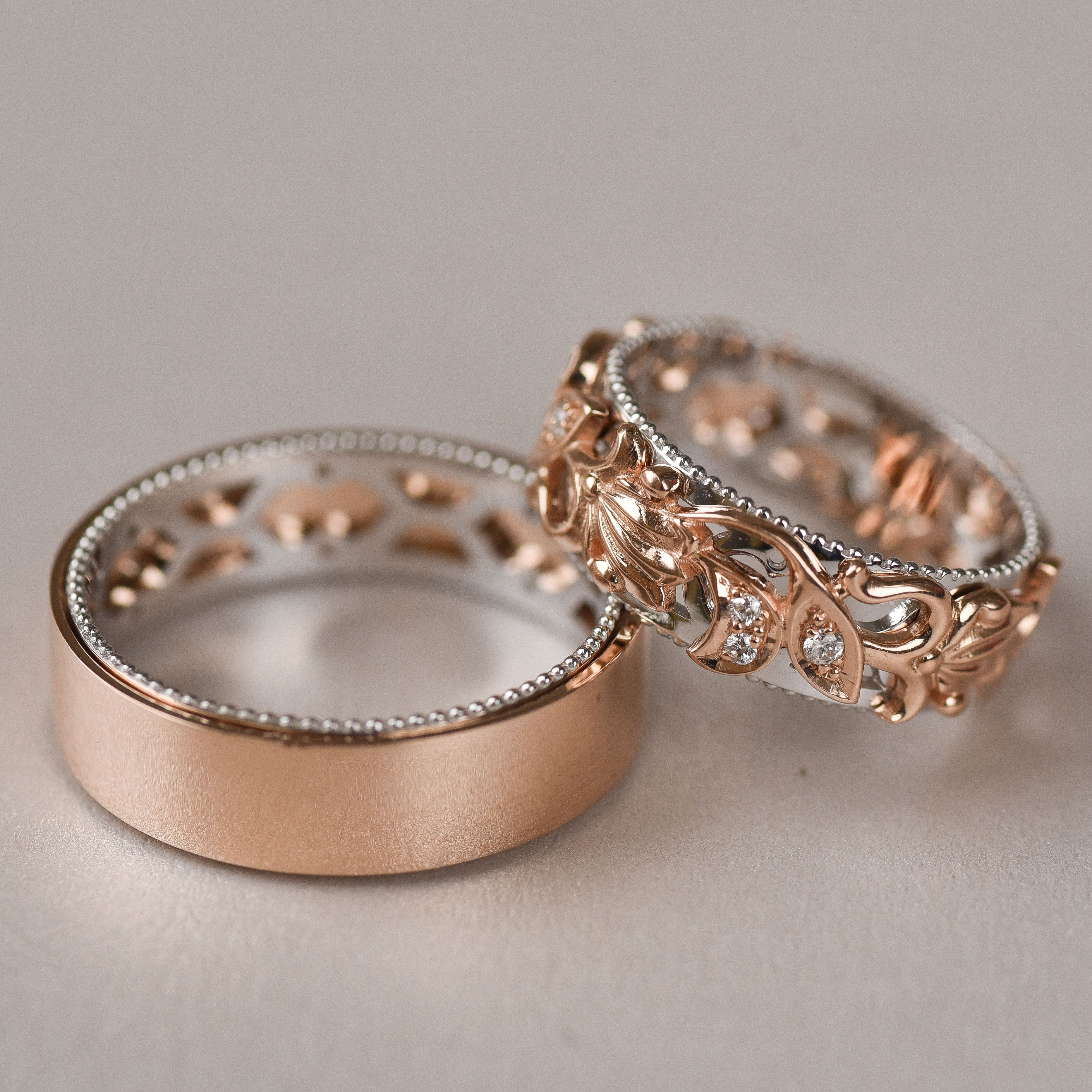 This is an image of Matching Wedding Bands Wedding Band Set His and Hers His and
