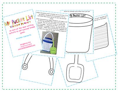 Summer Bucket List from First Grade Fun on TeachersNotebook.com -  (6 pages)