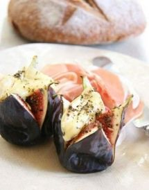 grilled-figs-with-camembert (without the parma ham!)