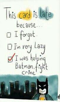 Batman Birthday Belated Birthday Card
