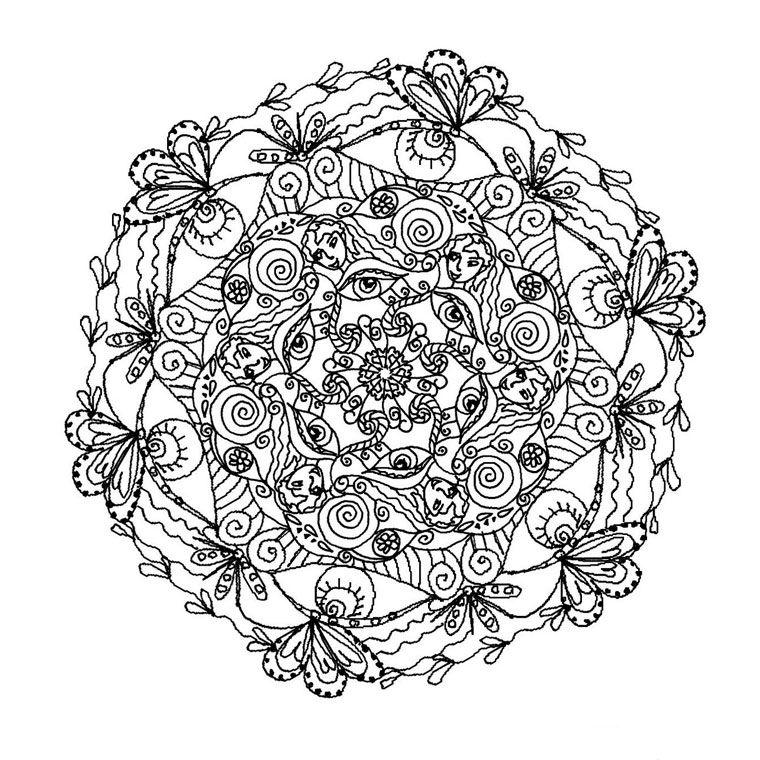 Coloriage Mandala Difficile A Imprimer.Coloriage A Imprimer Coloriage De Mandala Coloriage Mandala Complexe