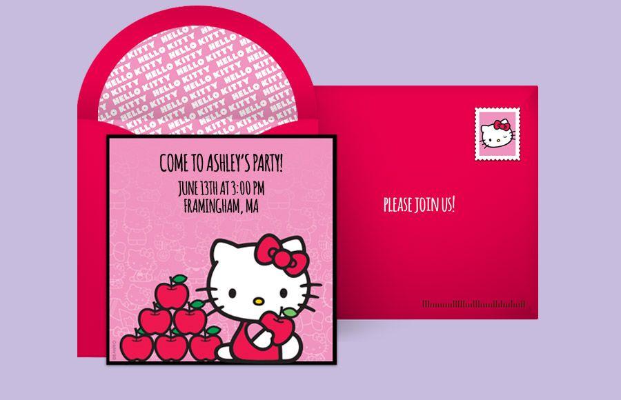 Free Hello Kitty Balloons Invitations Bleh