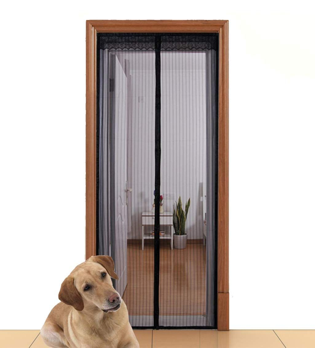 Aloudy Magnetic Screen Door Fits Doors Up To 36 X 98 Max Full Frame Velrco Instant Mesh Curtain Hands Free Bugs Magnetic Screen Door Screen Door Mesh Door
