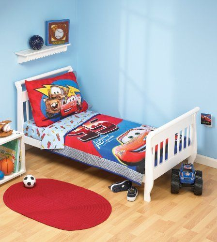 Disney 4 Piece Toddler Bedding Set 52 x 28 x 8 Mickey Mouse Playhouse Standard Toddler Mattress Blue//White