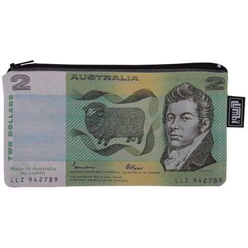 Old Two Dollar Note Pencil Case Or Purse From Sarah J Home Decor.  Australian Made