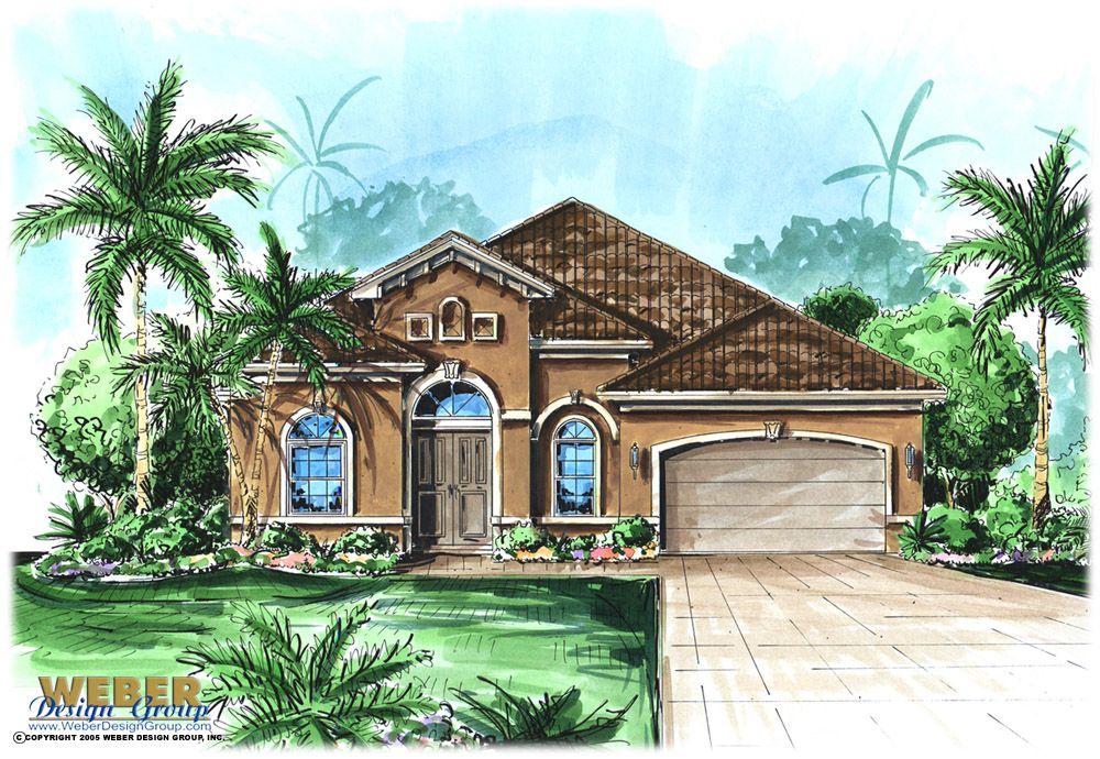 Mediterranean Homeplans WYNHAM Color Elevation. | Home Planning | Pinterest  | Mediterranean House Plans, Mediterranean Houses And Ranch House Plans
