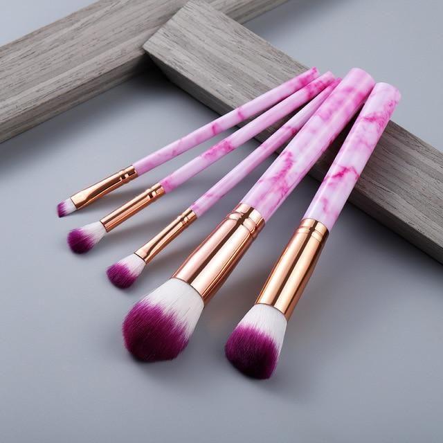 15 Stück Make-up Pinsel Set – 5 Stück Rose