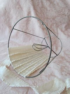Covering A Lampshade Frame With Ribbon