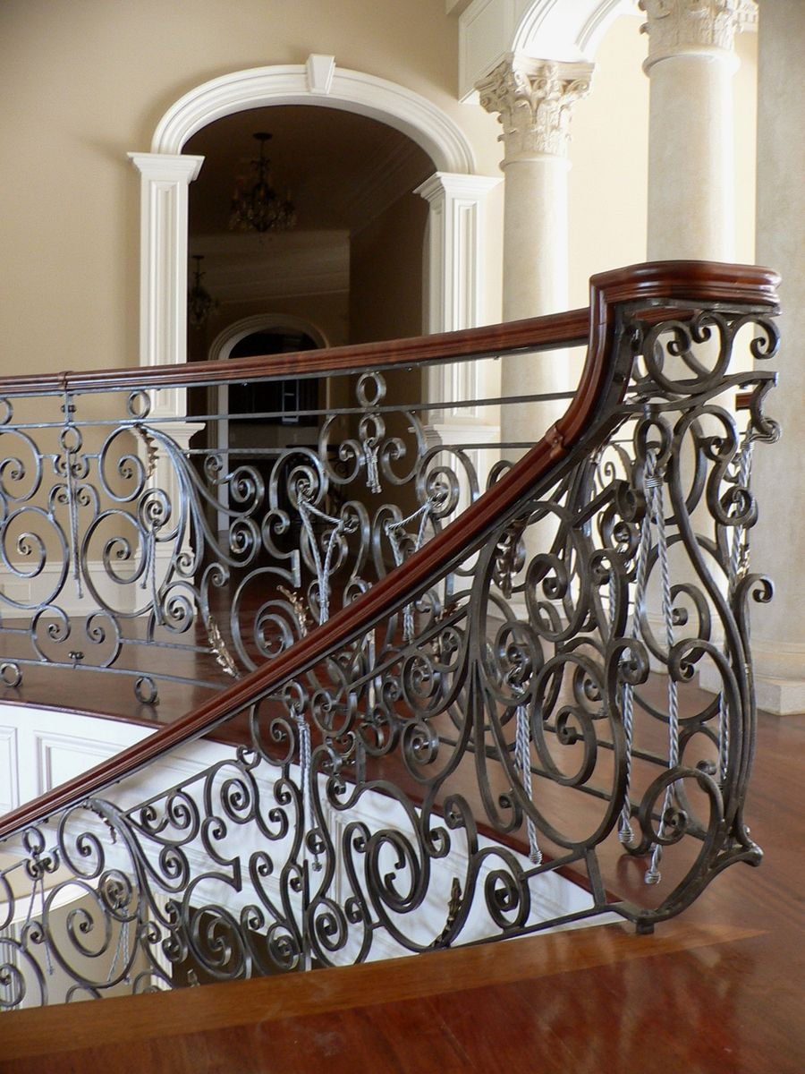 Exquisite Staircase Design plus archives attic architecture Exquisite Hand Forged Railing For Curving Staircase