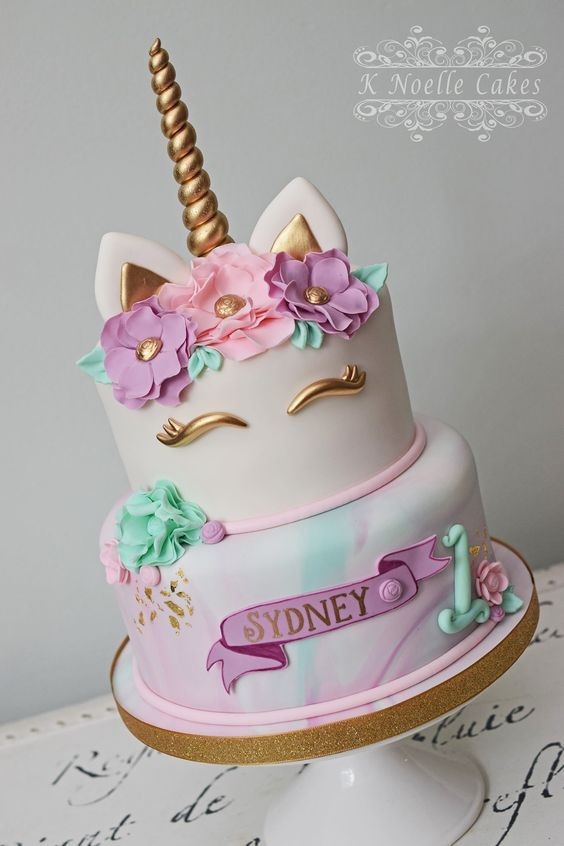 Awesome Birthday Party Ideas for Girls , Unicorn Cake