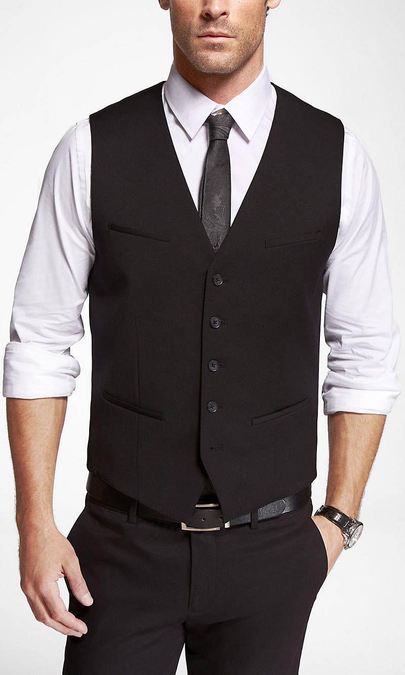 Wool Blend Suit Vest From Express Black Suit Vest Mens Outfits Suit Vest [ 1334 x 800 Pixel ]