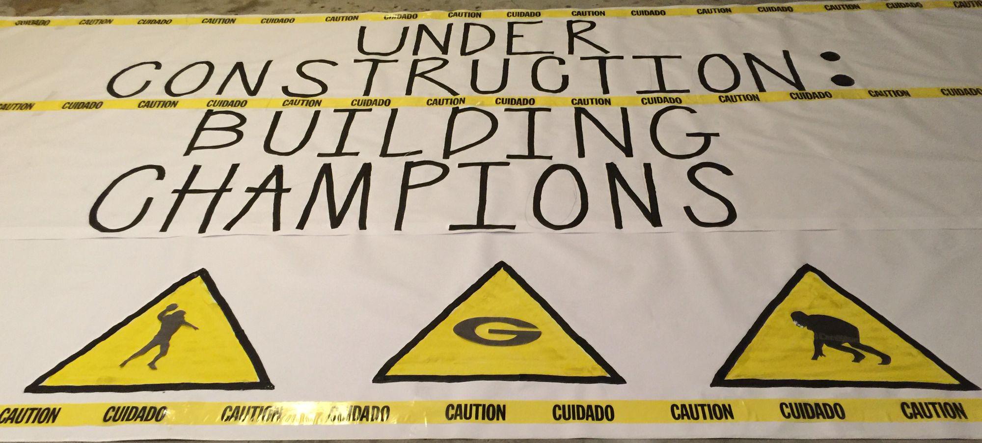 Playoff Run Banner Cheerleading School Spirit