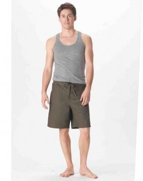 at last yogis ask, we deliver: the perfect men's yoga short. board  short cool meets gym short ease.