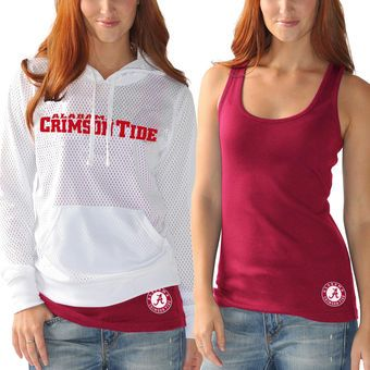 West Alabama Crimson Tide G-III Sports by Carl Banks Women's Kick Off Hooded Tee and Tank Top - White