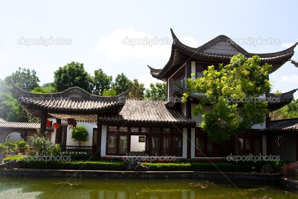 Chinese house chinese house stock photo kongkiat for Architecture orientale