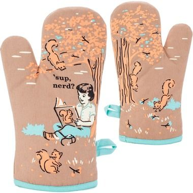 Sup Nerd Oven Mitt Quirky Gifts Oven Mitts Mitt