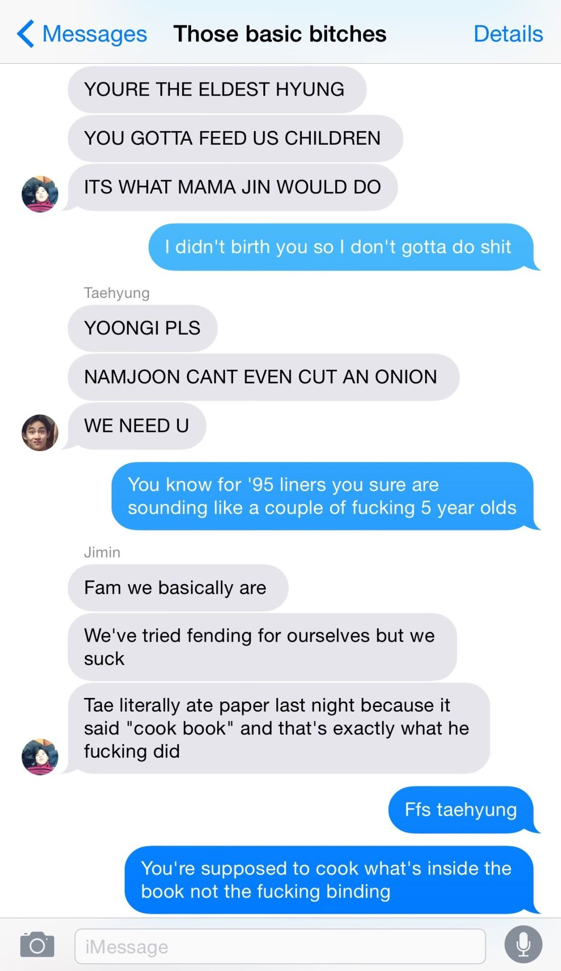 Bangtan Text Trashcan 95 Liners Beg Yoongi To Make Them Dinner