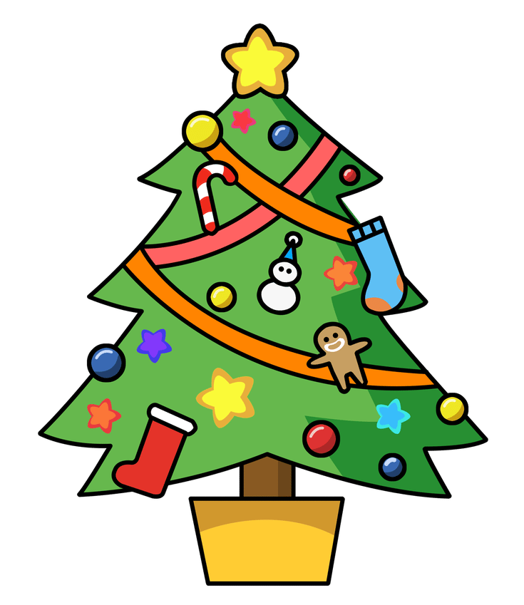 Where To Download Free Clip Art Of Christmas Trees Christmas Tree Clipart Cute Christmas Tree Cartoon Christmas Tree