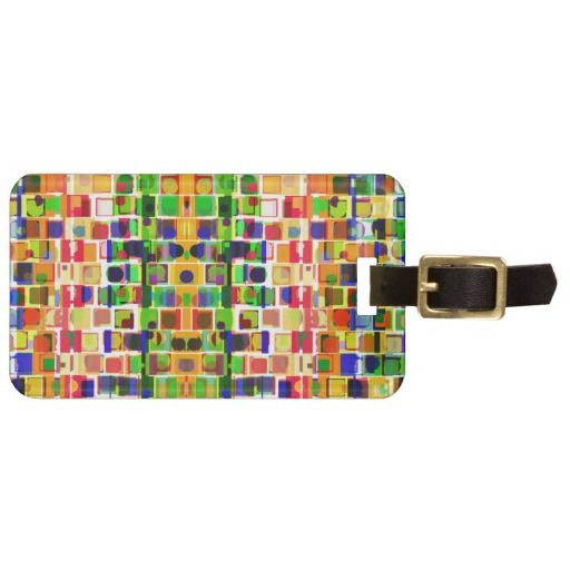 Geometric Abstract Travel Bag Tags