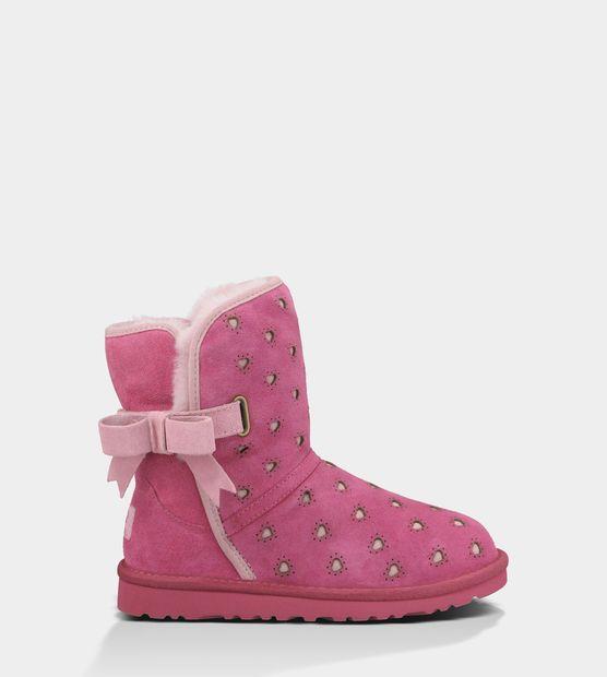 UGG Joleigh Black Boots For Kids