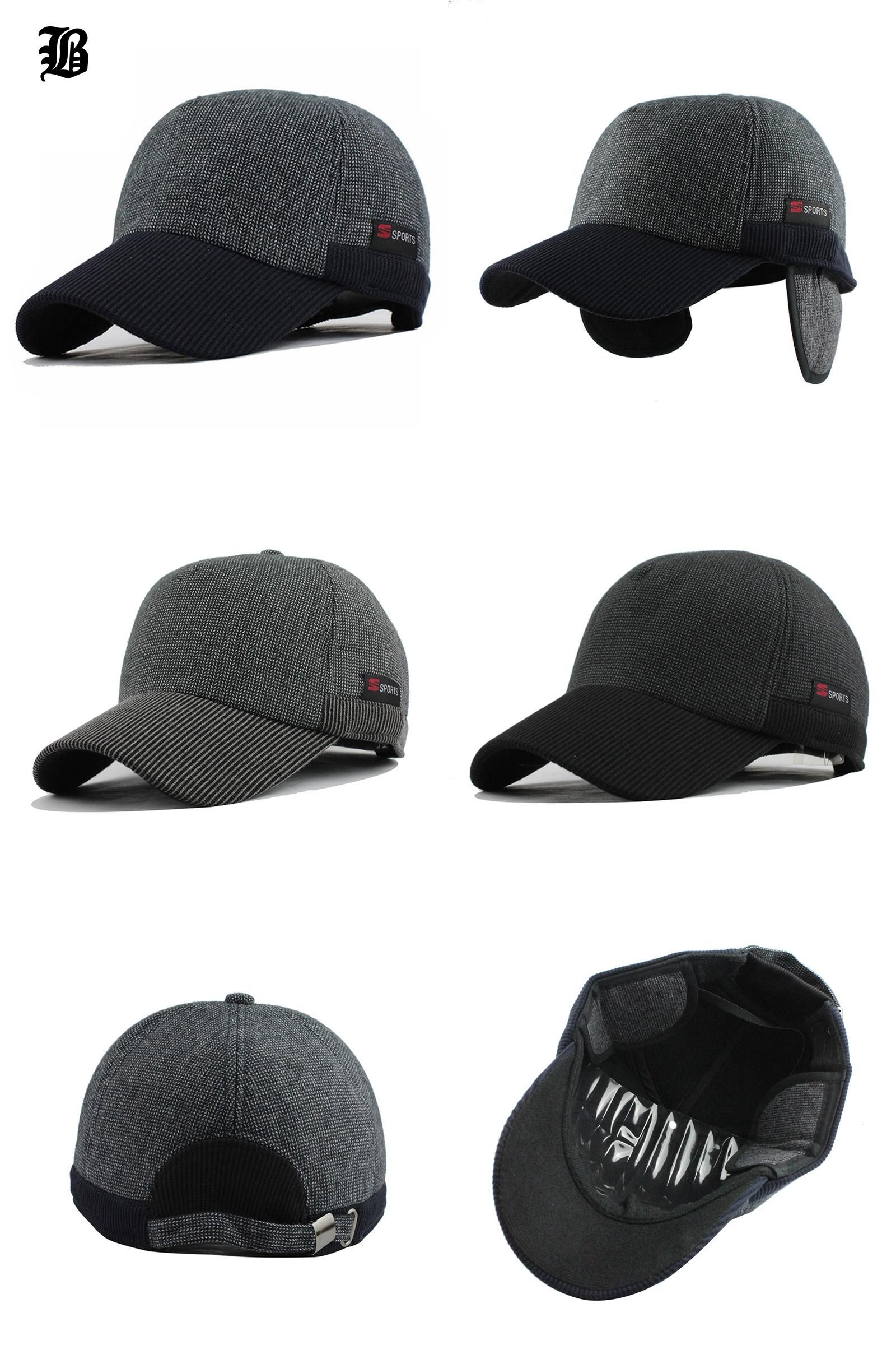 759a87dc479  Visit to Buy   FLB  Warm Winter Thickened Baseball Cap With Ears Men S