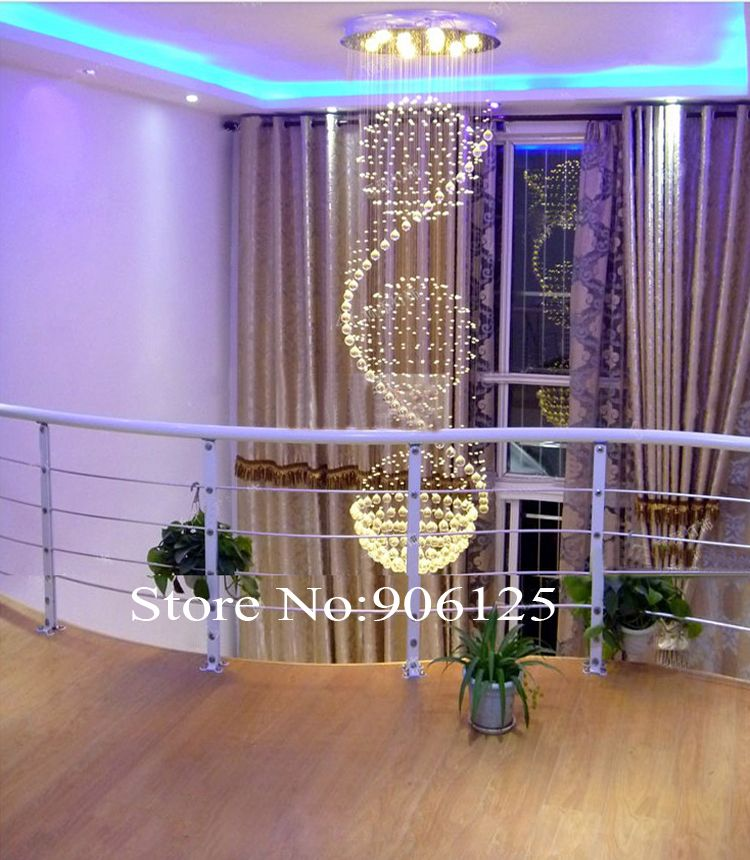 H78 inches Spherical Crystal Foyer Chandelier Lighting Modern Crystal Chandelier Guaranteed 100%+Free shipping!