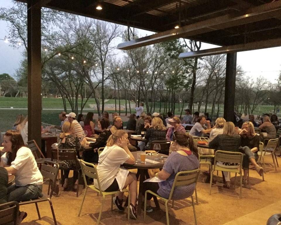 Patio Diners At Press Cafe In Fort Worth Have A View Of The Trinity River And Trail
