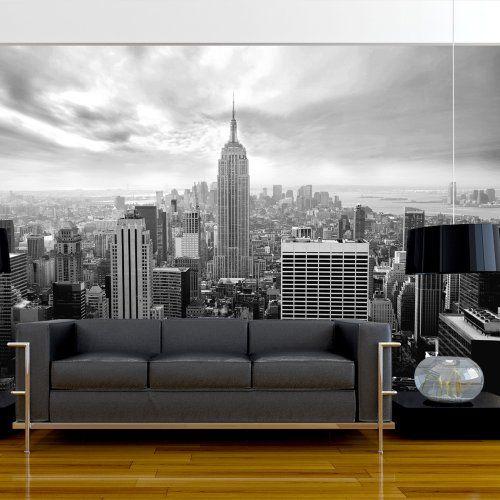 Fotomural decorativo de New York en blanco y negro   Cocinas y ...