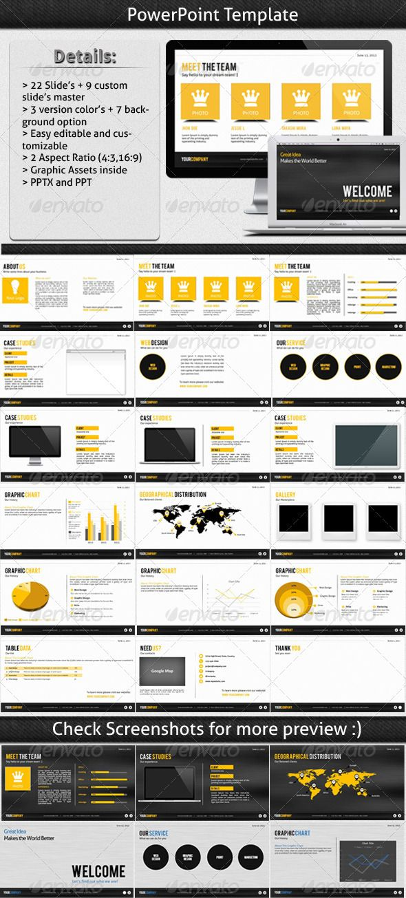 Great Idea Powerpoint Template  Studios Fonts And Creative