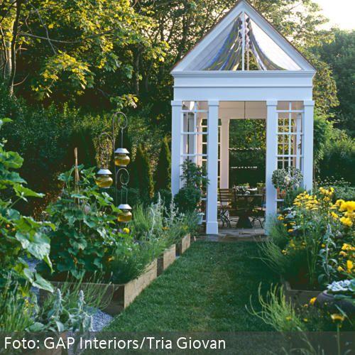 wei er pavillon mit essecke gartenhaus pinterest garden garden buildings und garden spaces. Black Bedroom Furniture Sets. Home Design Ideas