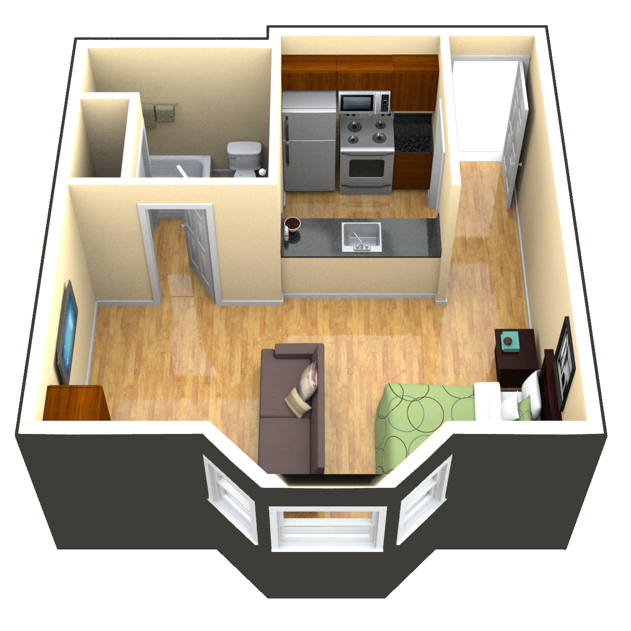 420 studio apartment floorplan google search studio for Garage studio apartment plans