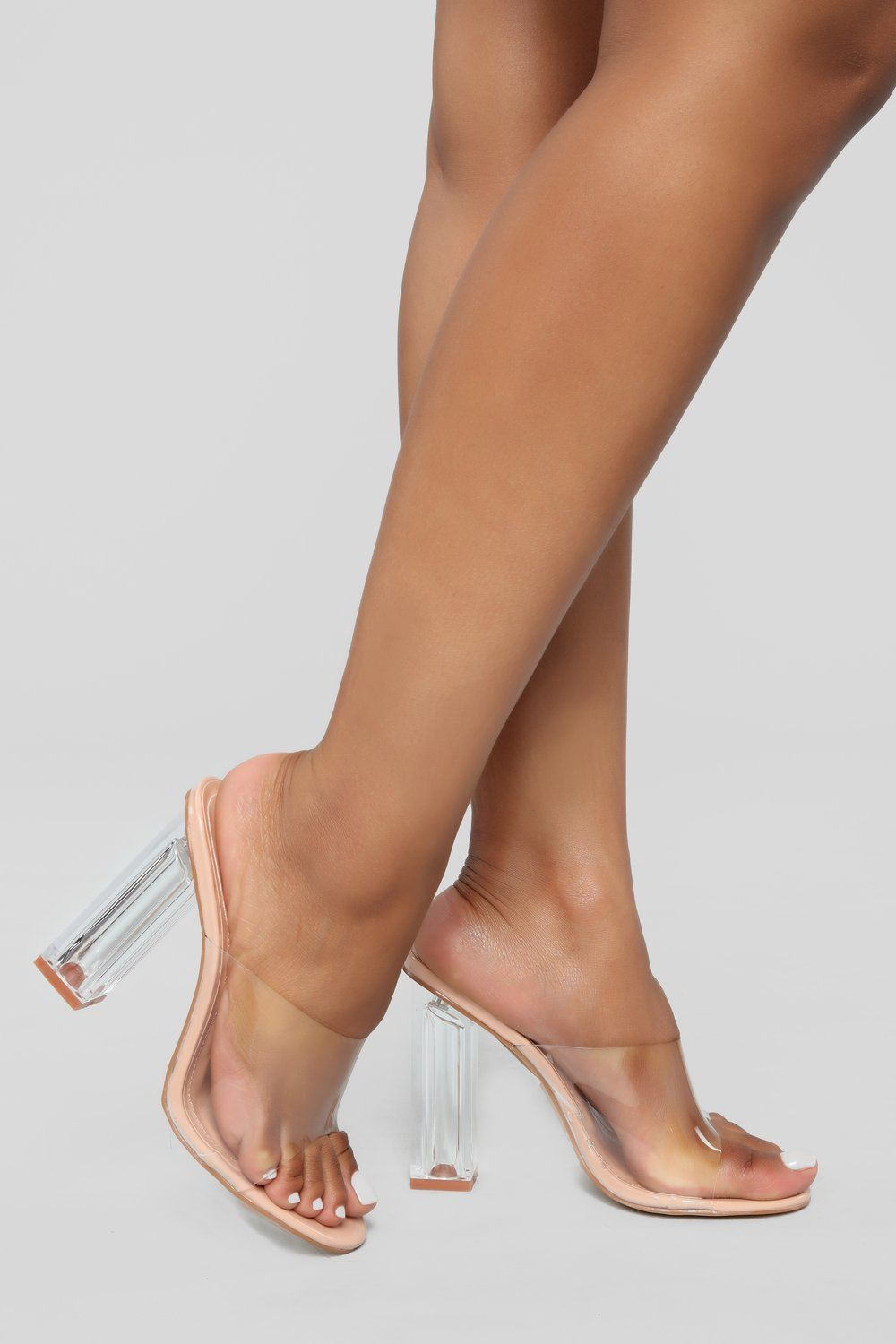 331448b69d961 Raise A Glass Heel - Nude in 2019 | mules | Glass heels, Heels ...