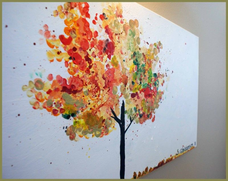Fall Tree Painting Fall Tree Painting Fall Canvas Painting