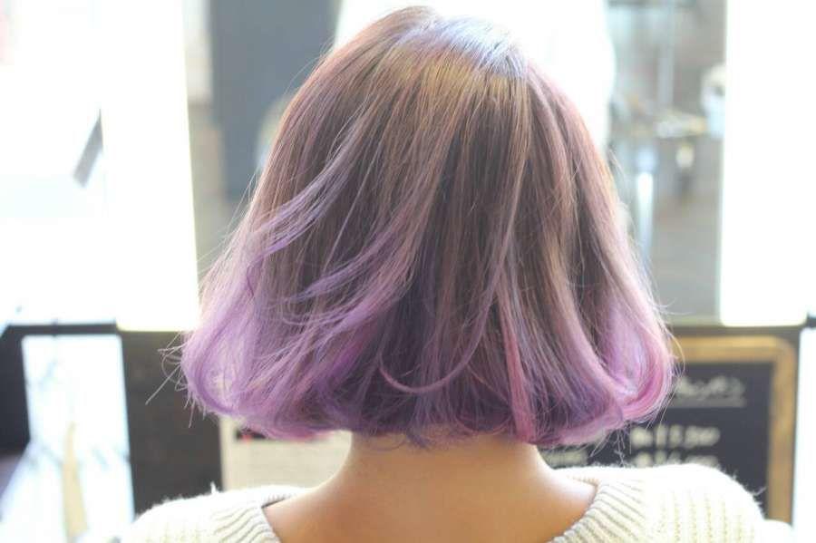 紫系グラデーションヘアカラー2016 ショート ミディアム ロング 美人部 Short Hair Color Dark Hair Dye Dyed Hair