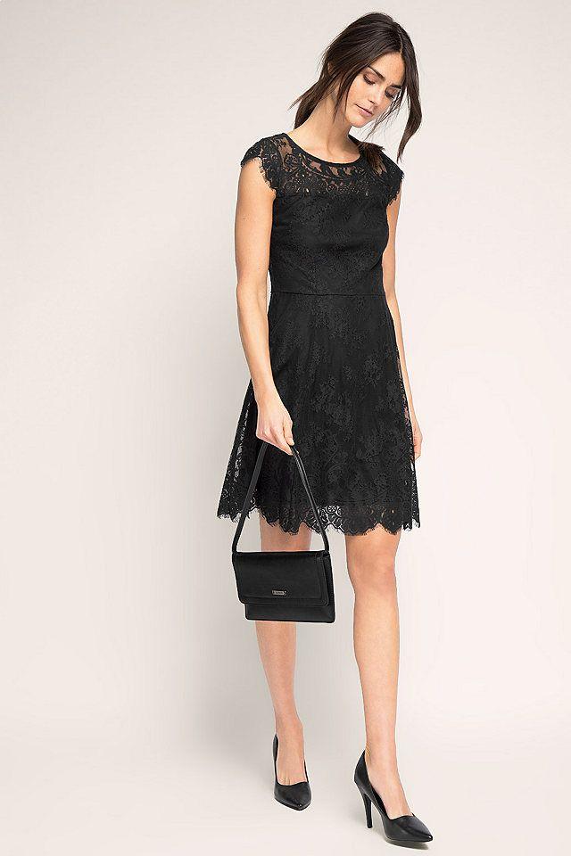 ESPRIT Kleid aus Spitze mit Effektrücken | Kleid spitze ...