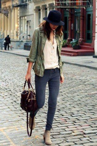 Skinny Jeans mit Boots