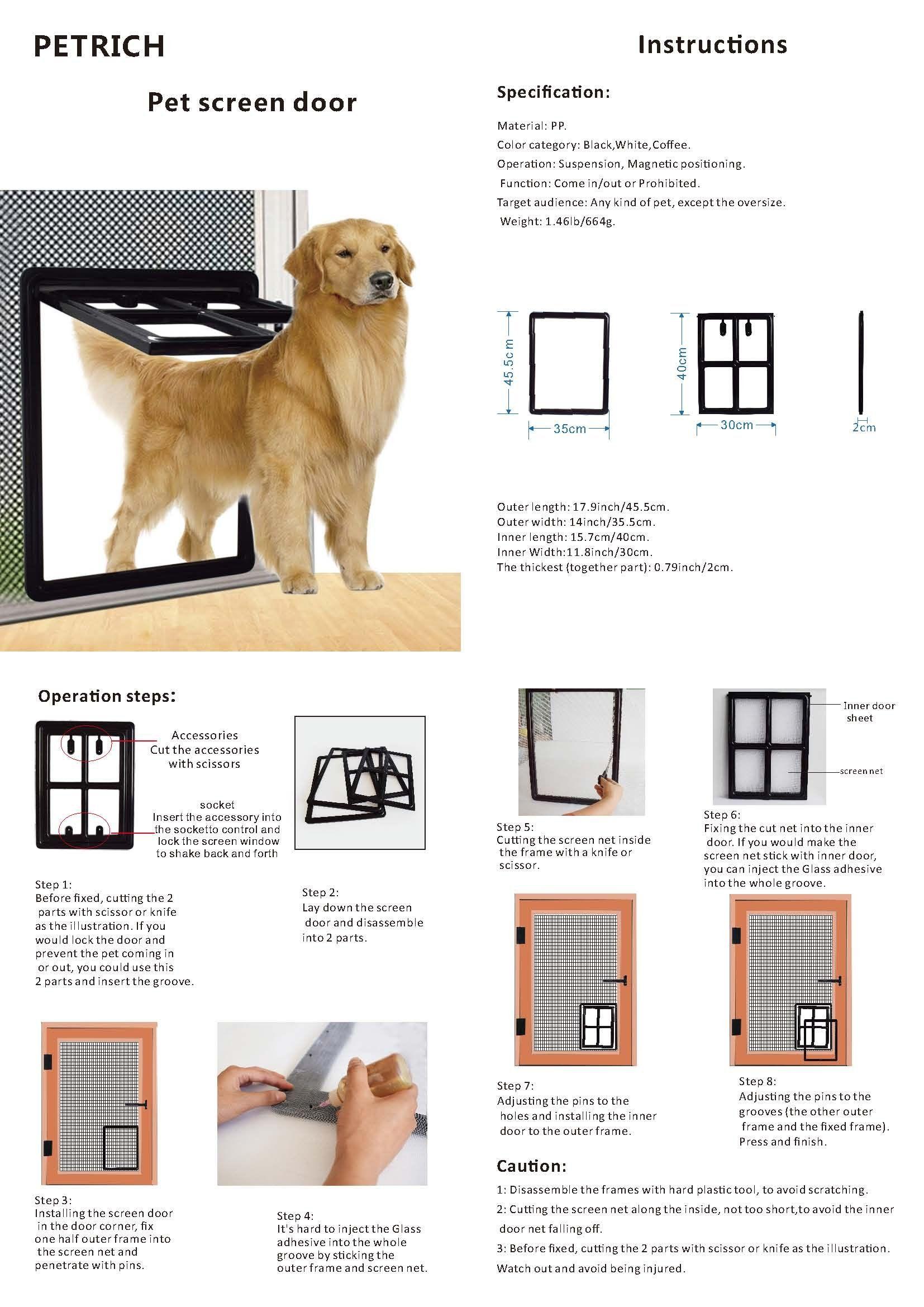 Window Pet Guard Pet Window Screen Roll Pet Doors Gates Safety Ramps Dog Screen Door Puppy Screen Window Door Gate Do Dog Screen Door Pet Screen Door Dog Fence