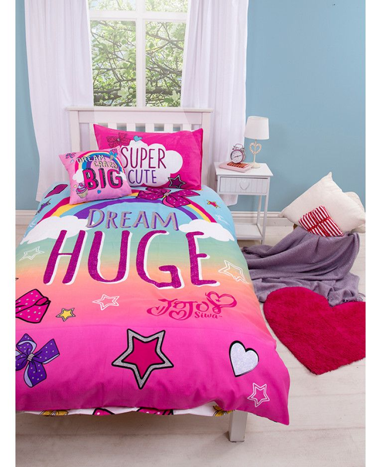 This Official Jojo Siwa Bows Single Bedding Set Is Inspired By The Dance Moms Star With Two Fu Single Bedding Sets Bed Linens Luxury Duvet Cover Master Bedroom