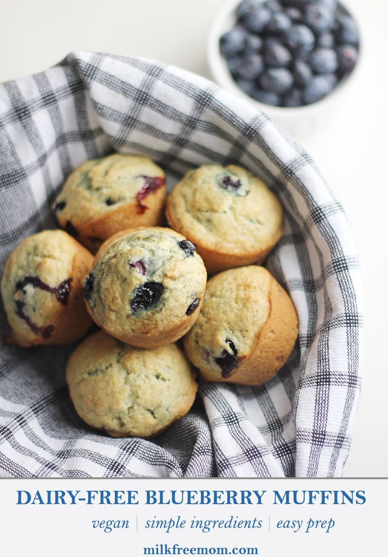 Dairy-Free Blueberry Muffins (vegan) – Milk Free Mom