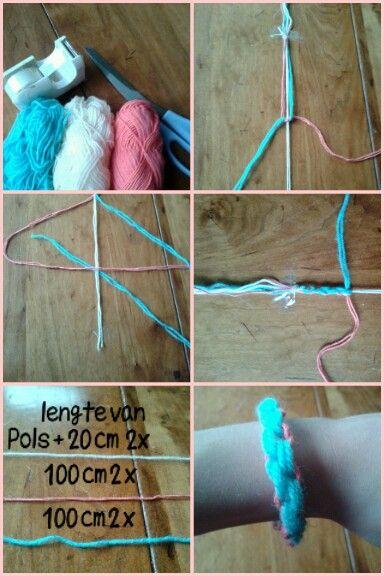 Super Zelf armbandje (gemaakt) maken van wol (met afbeeldingen CL-72