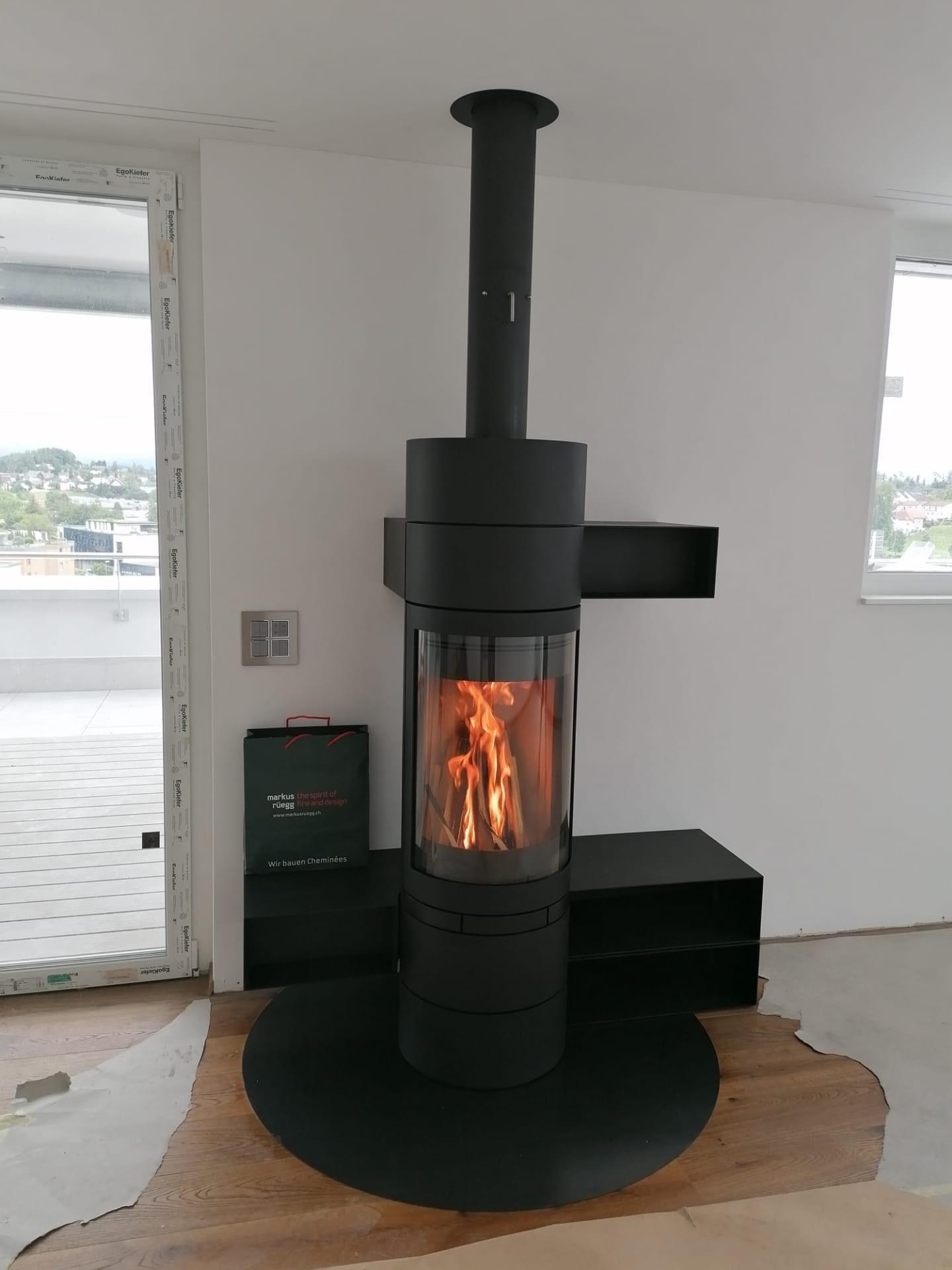 Schwedenofen Rund Kaminofen Modern Ofen Austroflamm
