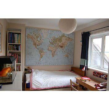 Ikea Premiar World Map Picture With Frame Canvas Large 55 X 78