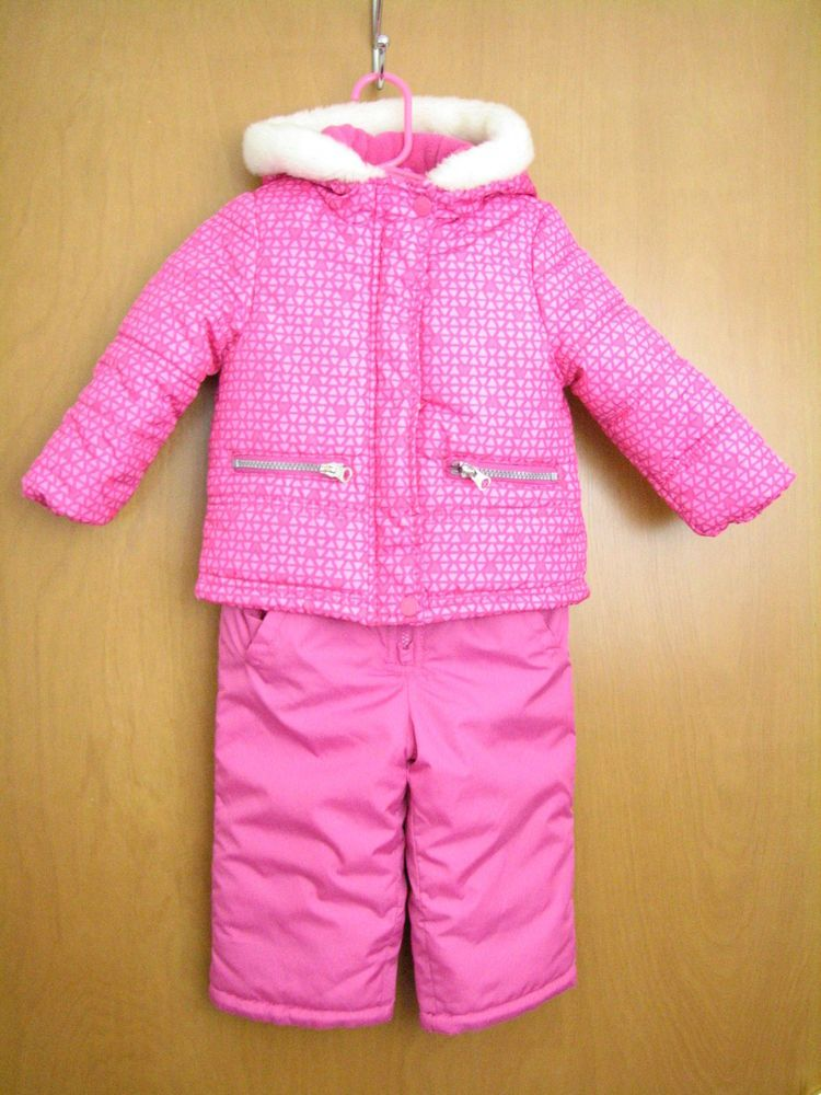 3223586fc OshKosh Bgosh Size 18M Pink COAT   Ski Snow Bib Pants Snow Snowsuit ...