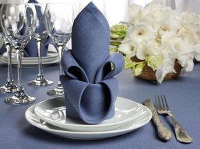 Servietten falten für die Hochzeit – Top 10 Ideen, Tipps & Beispiele