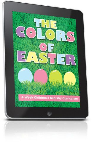 Free Childrens Ministry Lesson That Teaches Kids About Easter Using The Color Green This Is From Colors Of 4 Week